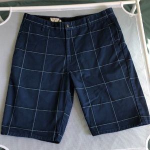 Volcom Plaid Blue Skate Shorts